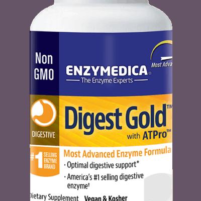 Digest gold bottle