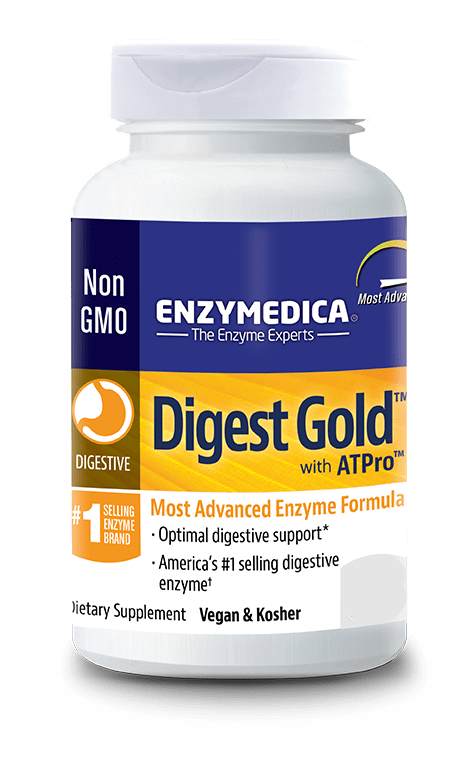 Digest gold bottle