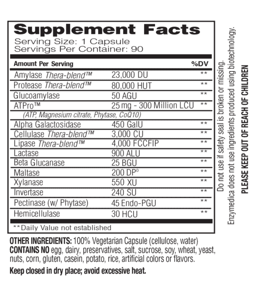 Digest gold nutritional facts