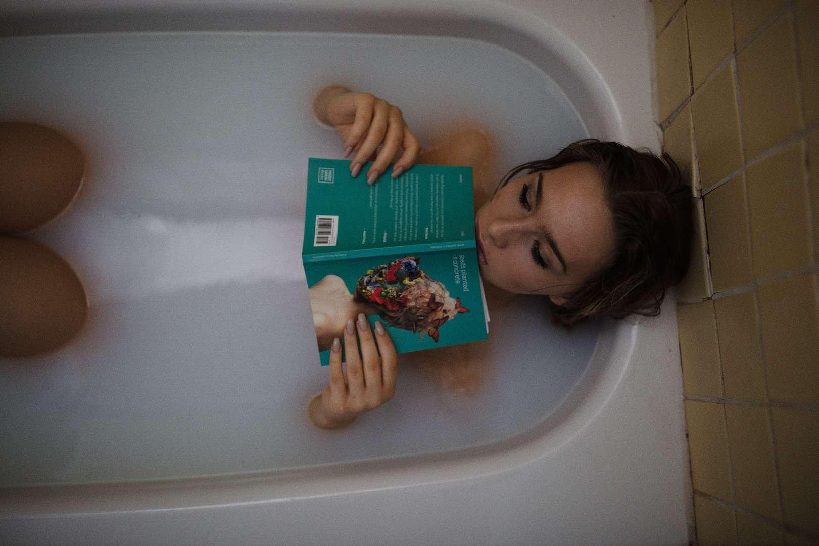 Soaking in bathtub